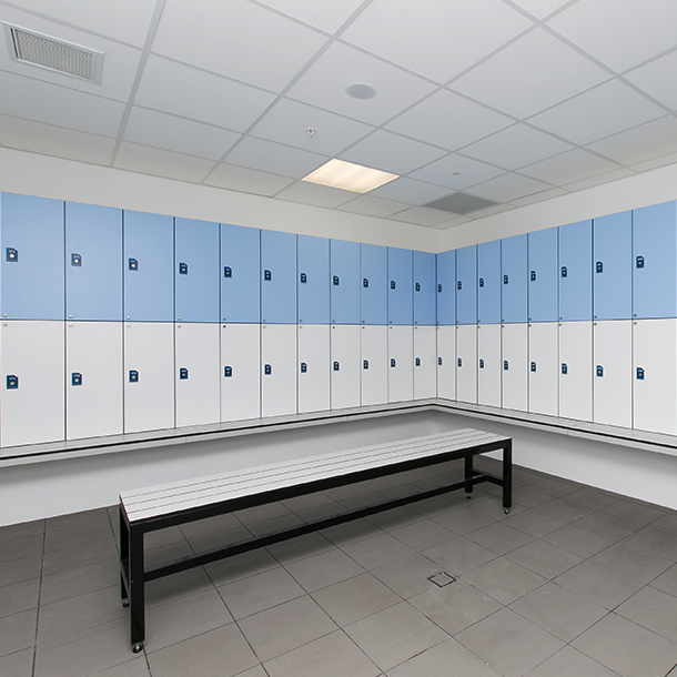 2 Tier Locker With Seating