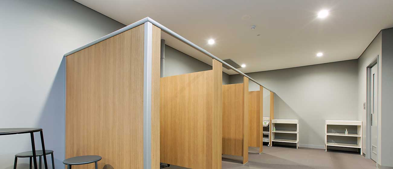 Changeroom Cubicle Partitioning Systems